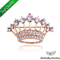 $2 Off Per $12,Top quality Alloy Luxury Rhinestone Crown Brooch Pin For Women/Men