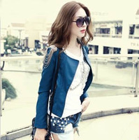 2013 Autumn Fashion 3 Colors Tassel Women Designer Short PU Jacket With Long Sleeves Womens Leather Jacket Leather Jackets