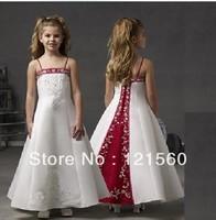 Free shipping Fashion girls  formal dress long design party  dress 2-14 age