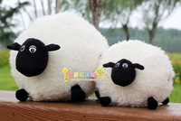 35CM Large Trumpet Sean fat sheep, cute little sheep plush toy factory wholesale Christmas baby gift free shipping
