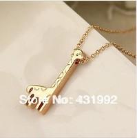 Genuine Italina 18K rose gold plated jewelry gifts giraffe necklace pendants Korean female