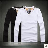 2014 +Men's long Sleeve T Shirt slim fit ,brand shirts for men ,designer shirts,3XL boy london shirt free shipping