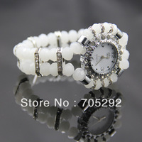 Fashion White Opal Crystal  Bangle Watch Free Shipping