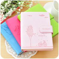 korea stationery small fresh pu notebook cute diary tsmip