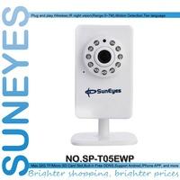 SunEyes SP-T05EWP Mini IP Camera P2P Plug and Play with TF/Micor SD Card Slot Wireless Wifi Network Camera