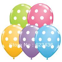 Free shipping Multicolored 12' dot print latex balloon best wedding decoration