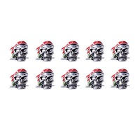 10 Pcs/Lot Skeleton Skull Paracord Pendant Knife Flashlight Bracelet Accessories Pendant No.8