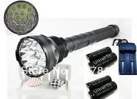 15x CREE XML XM-L T6 LED 18000LM Lumens LED Flashlight Torch Light Lamp + 4X 26650 Batteries + Multifunctional Charger