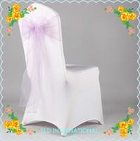 200 Light Purple  Organza Chair  Sash For Wedding