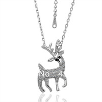 18KGP N041 N045 Deer Necklace 18K K Gold Plated Fashion Jewellery Nickel Free Necklace Rhinestone Crystal SWA Elements