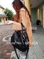 Soft one shoulder cross-body handbag soft surface PU solid color pattern female bags leather bag
