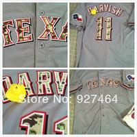 2013 Baseball Jerseys Texas Rangers 11 Yu Darvish men baseball jersey stitched logos camo jersey size M-XXXL
