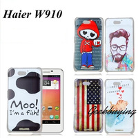 New Arrival Haier W910 case Geek style fashion  colour decoration protective cover  Freeshipping