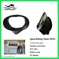 spearfishing mask with oval lens rubber diving mask