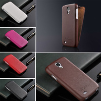 Luxury Genuine Leather flip Case for Samsung Galaxy S4 i9500 Flip Cover New Arrival with FASHION Logo