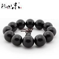Ebony beads bracelet sandalwood handmade rosary Men 18mm old fozhu rosary male Women accessories