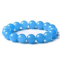 Blue chalcedony bracelet sighted summer women's bracelet aquamarine bracelets
