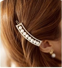 Big discount! ! The order of at least $10! (mixed Order) E016 noble pearl diamond wedding hair pin accessories free shipping!