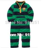 new arrival! green strip microfleece baby boys Romper, carter  Baby Long Sleeve Jumpsuit Newborn-24m  Winter Autumn