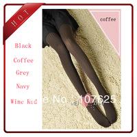 Spring autumn Fashion women's velvet pantynose stocking slim pantyhose leggings tights five colors Drop shipping free shipping