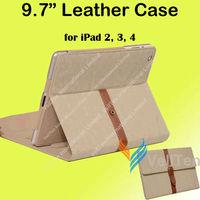 "9.7"" Fashion Tablet Protective Case for iPad 2 3 4 ipad2 ipad3 ipad4 Genuine Leather Vintage Style cover"