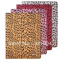 "9.7"" fashion Tablet Protective Case for Apple iPad 2 3 4 ipad2 ipad3 leopard print comfortable imitation leather dormant bracket"