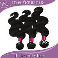 Kilo hair products brazilian body wave 3pcs lot 12 14 16 18 20 22 24 26 28 30 inch 1b# natural color 100% virgin human hair