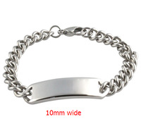 stainless steel feiendship ID bracelet for women and men blank bracelet  BR-001