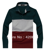 Free Shipping Hot Sale 2013 Autumn New Man T-shirts, Famous Brand High Quality Fashion Long Sleeve Men T shirt  A3698, M to XXXL