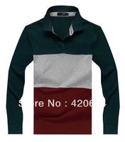 Free Shipping Hot Sale 2013 Autumn New Man T-shirts, Famous Brand High Quality Fashion Long Sleeve Men T shirt  A3698, M to XXXL