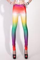 Hot !!! New 2013 Women Legging Digital Print Colour Palette Leggings Wholesale Free Shipping