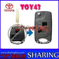 Folding Remote Key Case Fob for TOYOTA Prado Tarago Camry Corolla Rav 4 Avensis Echo
