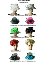 Formal Dress Church Hat/Kentucky Derby Hat/hair accessories with Rhinestones Band&feathers.FREE SHIPPING by EMS