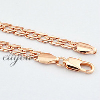5mm New Free Shipping Fashion Jewelry Mens Womens Braided Style Chain 18K Rose Gold Filled Necklace Gold Jewellery DJN75