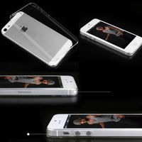 1mm Ultra Thin Slim Transparent Crystal Clear Hard Shell Skin Cover Case For iPhone 5 5G 5S Wholesale Free Shipping 20pcs/lot