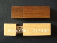 wooden rectangle usb flash drive  with free custom  logo printing  KYUFD31