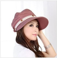 Korean version of the spring and summer days the sun visor woman Visors UV sun hat cycling cap lace cotton lady