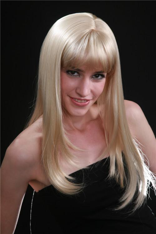 Long Platinum Blonde Wig With Bangs Long Platinum Blonde Hair