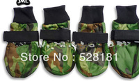 Free shipping, Large dog pet shoes, camouflage