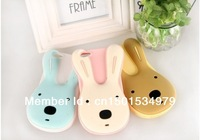 Korea cute big face rabbit silicone case for iPhone4 and iPhone4s and iphone5