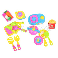 Colorful 17Pcs Role-play Toys Small Kitchenware Simulation Kitchen Tableware Toy