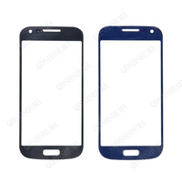 Free shipping BLUE for samsung Galaxy S4 MINI i9190 front Outer Glass Lens Replacement