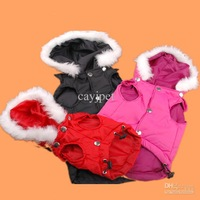 2013 new pet jacket dog clothes leisure down vest hat cotton-padded clothes for big dog xl/xxl/xxxl