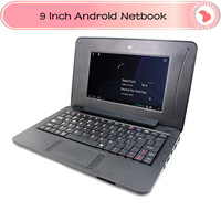 NEW 9 inch mini laptop netbook via 8850 Android 4.1 1GRAM 4GB HDD WIFI HDMI Camera support dropshipping