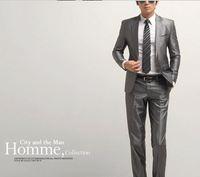 hot sale 2013 casual slim one button work wear business suits grey S M L XL XXL XXXL XXXXL