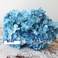 Free shipping (24pcs/lot) Silk Artificial Hydrangea Pincushion Laurustinus Flower Bush Wedding Bouquet Christmas
