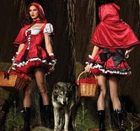 Free shipping Red Uniform Fantasy Dress,gothic lolita dress,Snow White cosplay ,sexy Halloween Costume for women/men