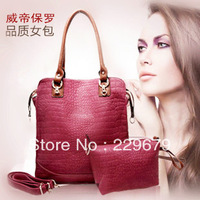 New Stylish Crocodile Pattern pu Leather Women Handbags Brand Ladies Totes Bags Popular Handbags Free Shipping