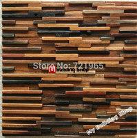 Natural wood mosaics 3D mosaic wall pattern tiles NWMT021 kitchen backsplash mosaic wood panel strip tile mosaic tiles