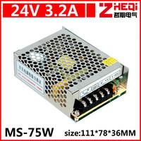 Mini 75W switching power supply, 24V LED power supply, monitor power supply, DC power supply, AC110-220 to DC